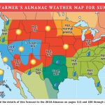 2018 Summer Weather Forecast | U.s. & Canada | The Old Farmer's Almanac Inside Weather Heat Map United States