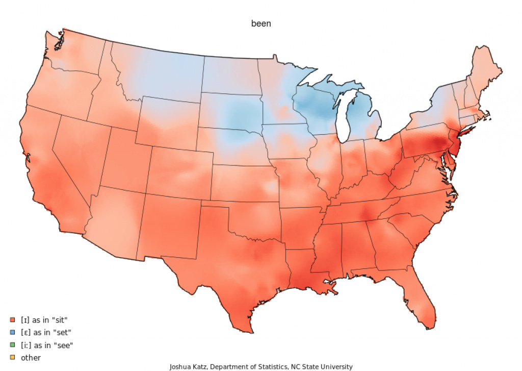 22 Maps Showing How Different Americans Pronounce Different Words throughout United States Accent Map
