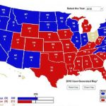 270 Needed To Win: A Close Look At The Election Map In Prez Within Map Of Red States And Blue States 2016