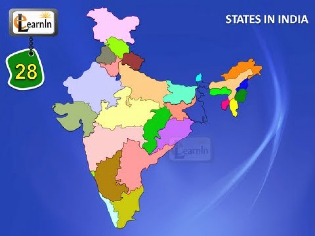 28 States Of India With Map - General Knowledge For Kids - Youtube inside States Of India Map Game