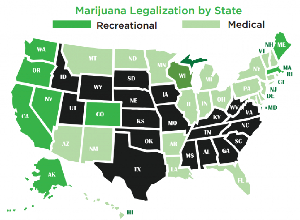 3 Indirect Plays In The Growing Marijuana Market | Seeking Alpha in Legal Marijuana States Map 2017