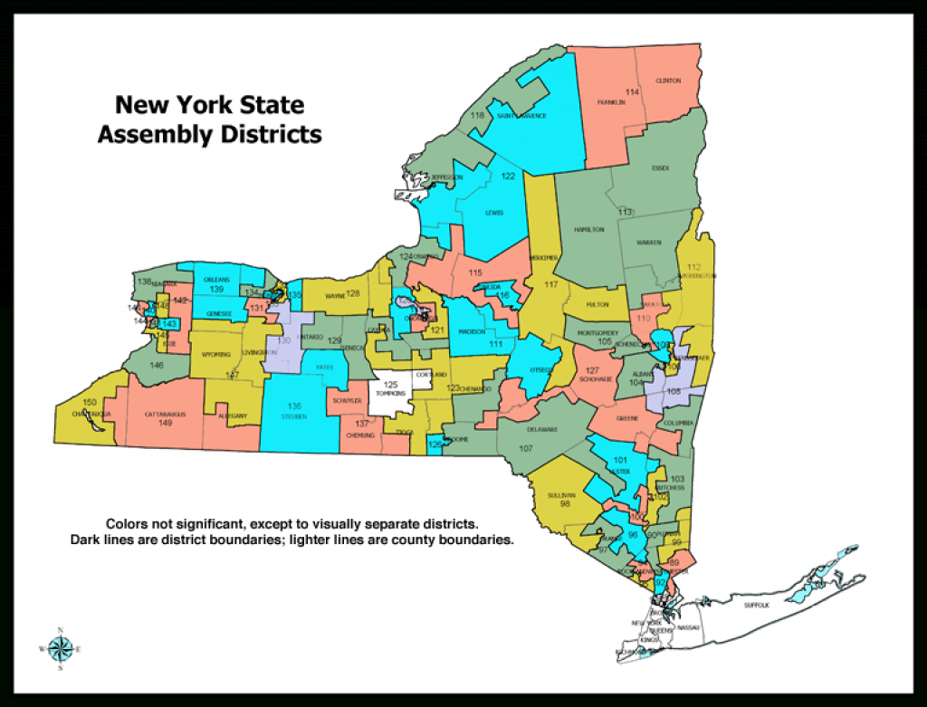 31 Awesome New York State District Map – Bnhspine with regard to New York State Assembly District Map