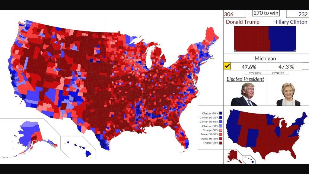 4K Hd] 2016 American Presidential Election Results Map : State inside 2016 Electoral Map By State