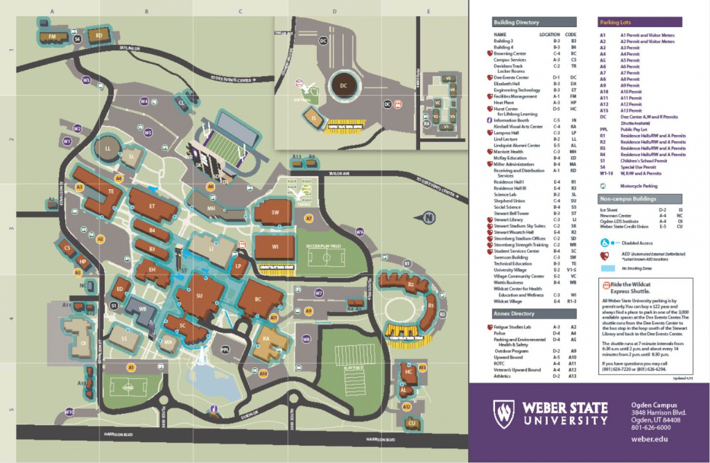 5-48 Smoke Free Zones with Weber State Map