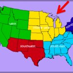 5 Regions Of The United States Map United States Map Divided Into 5 Inside United States Map Divided Into 5 Regions