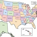 50 States Map With Capitals Us Map Labeled Capitals Us Maps United In A Labeled Map Of The United States