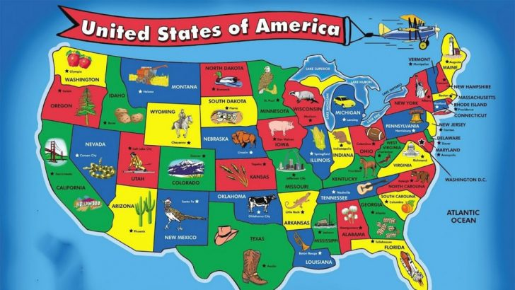 50 States Map With Capitals