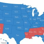 50 Years Of Electoral College Maps: How The U.s. Turned Red And Blue Within Blue States Map