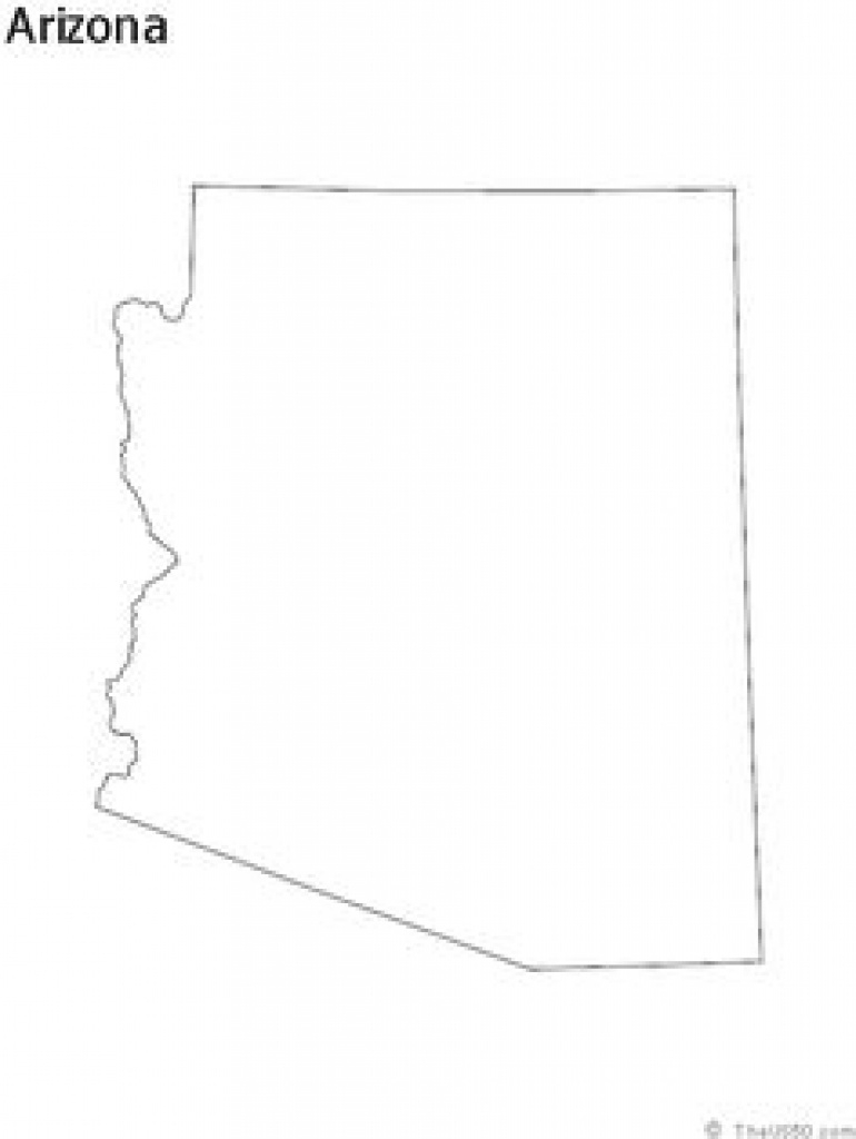 53 Best State Outline Coloring Sheets Images On Pinterest | Coloring with Arizona State Map Outline