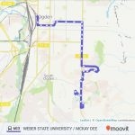 603 Route: Time Schedules, Stops & Maps Within Weber State Map