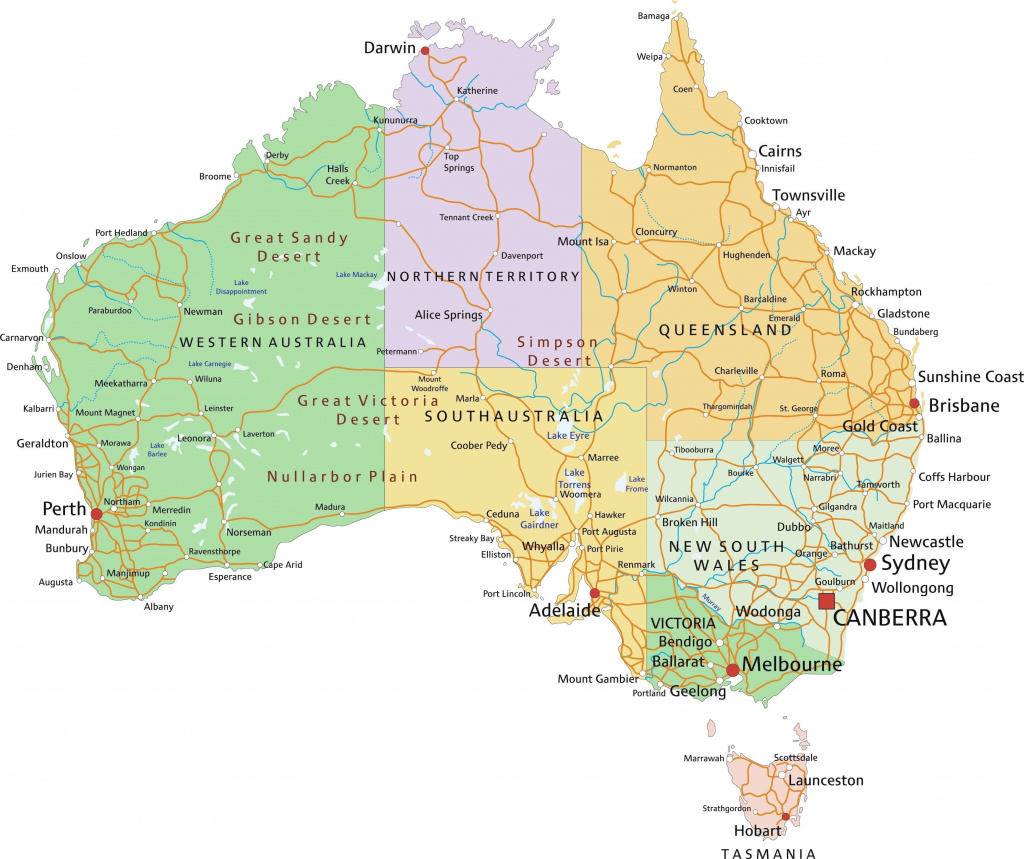 6195772 Map Of Australia With Major Cities In Australia Map With inside Map Of Australia With States And Major Cities