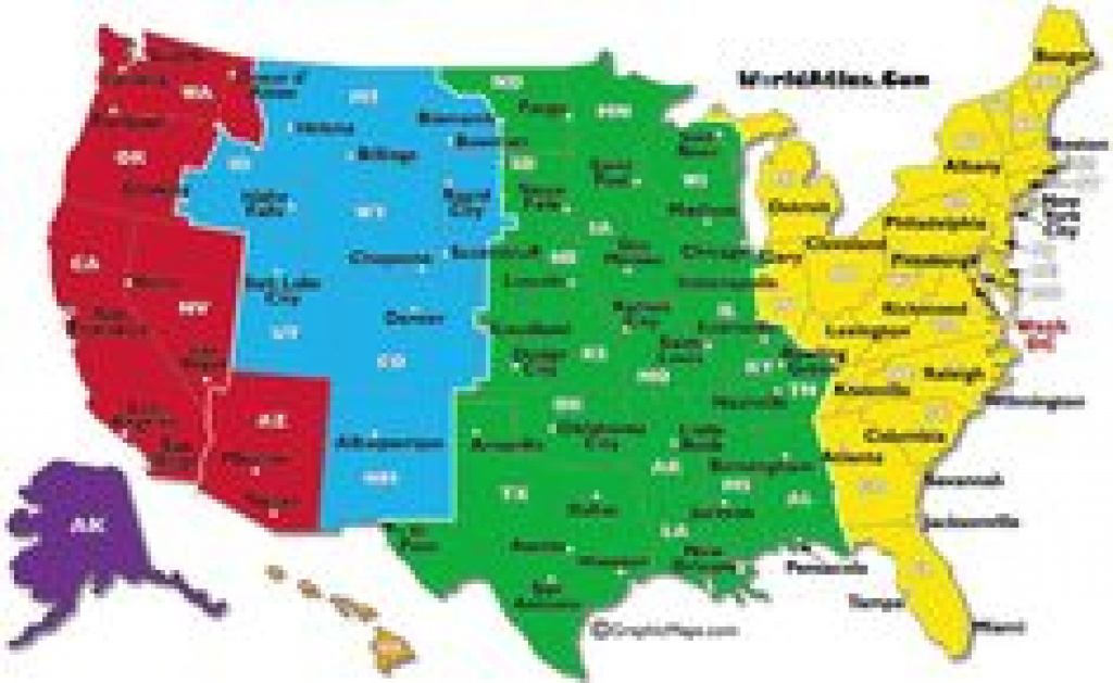 7 Best Maps Of Usa Time Zone Images On Pinterest | Time Zone Map throughout United States Of America Time Zone Map