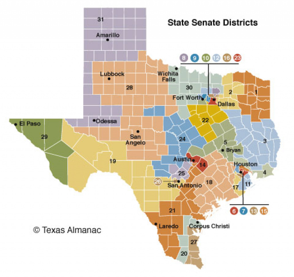 85Th Legislature Senate | Texas Almanac with regard to Texas State Senate District 24 Map