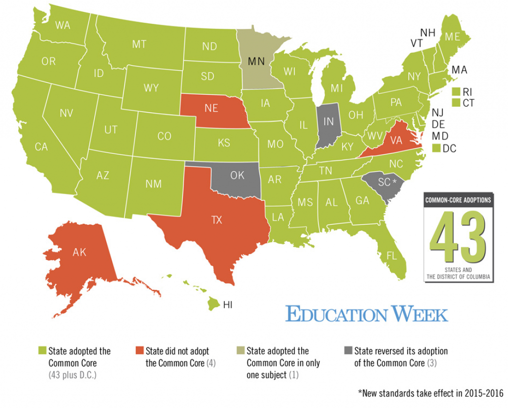 A 'common-Core Math' Problem: How Many States Have Adopted The inside What States Have I Been To Map
