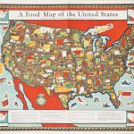 A Food Map Of The United States   Barron Maps Pertaining To United States Product Map