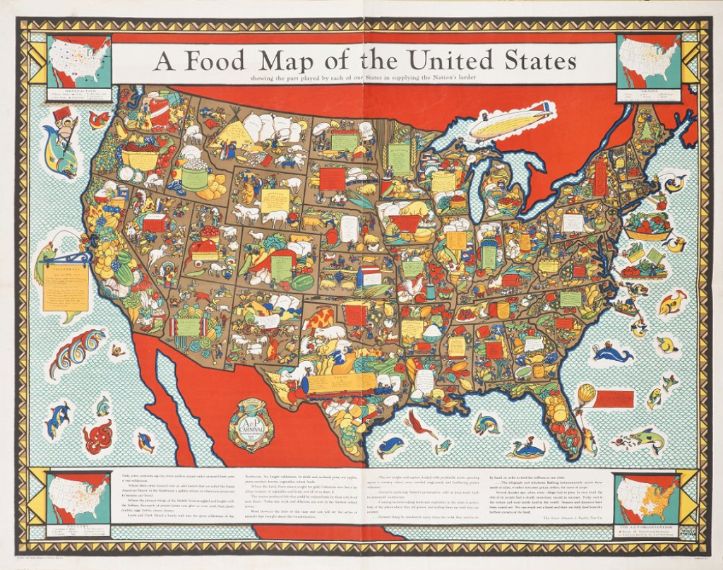 A Food Map Of The United States - Barron Maps pertaining to United States Product Map