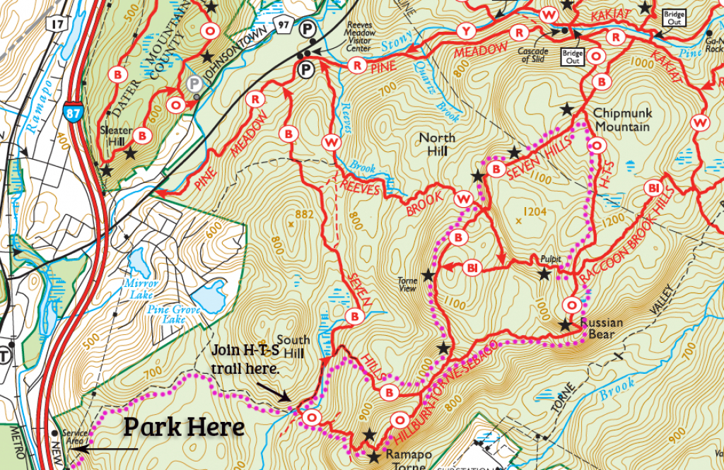 A Hike That Begins, And Ends, At Dunkin Donuts - | My Harriman for Harriman State Park Trail Map