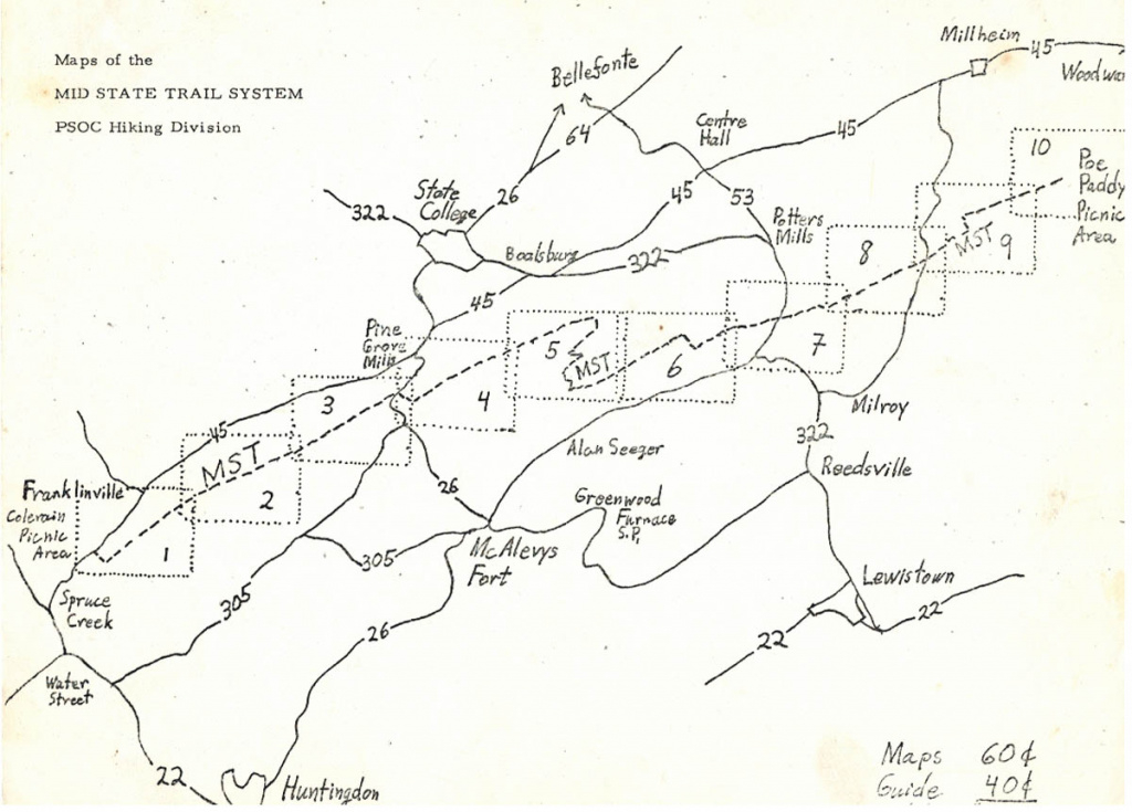 A History Of The Mid State Trail - Pahikes regarding Rb Winter State Park Trail Map