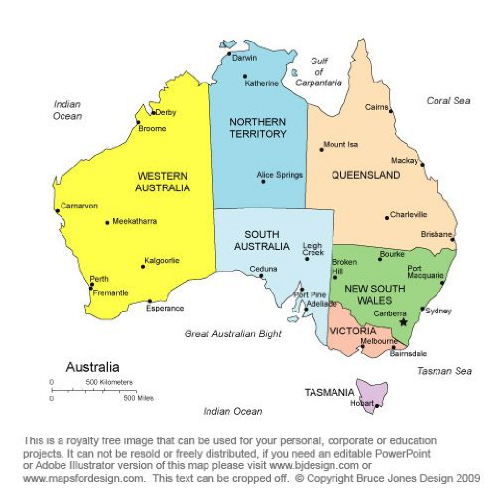 A Map Of Australia, Clearly Illustrating The States And Territories regarding Map Of Australia With States And Major Cities