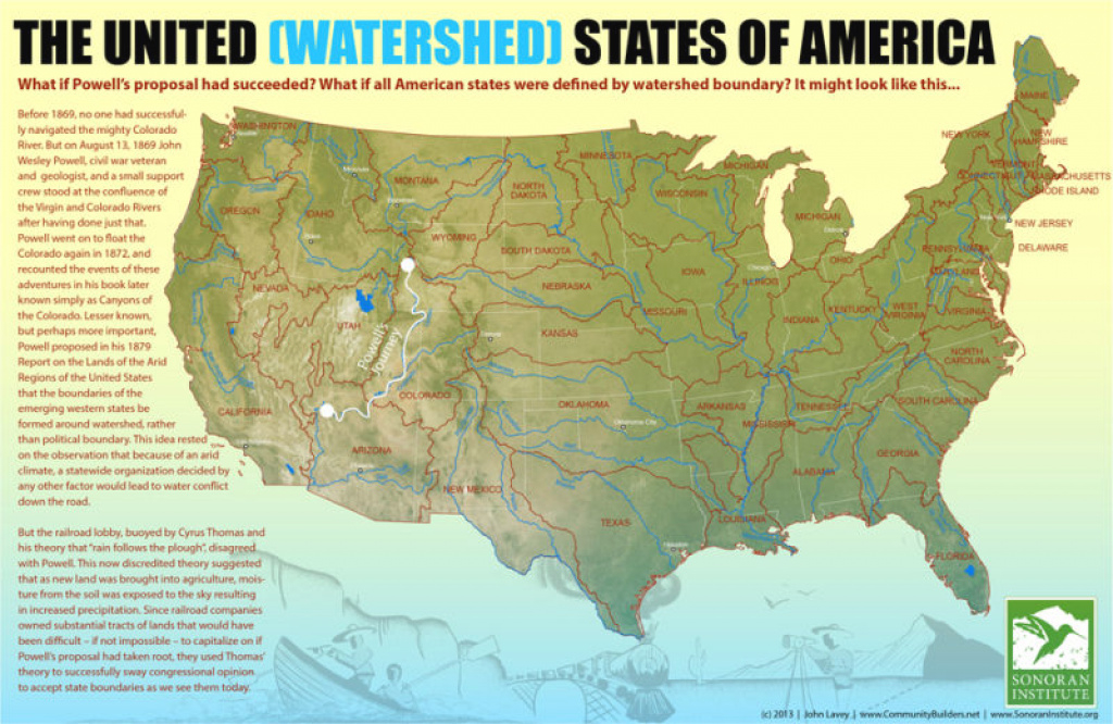 A Map Of What The State Boundaries In The U.s. Might Have Been within Watershed Map Of The United States