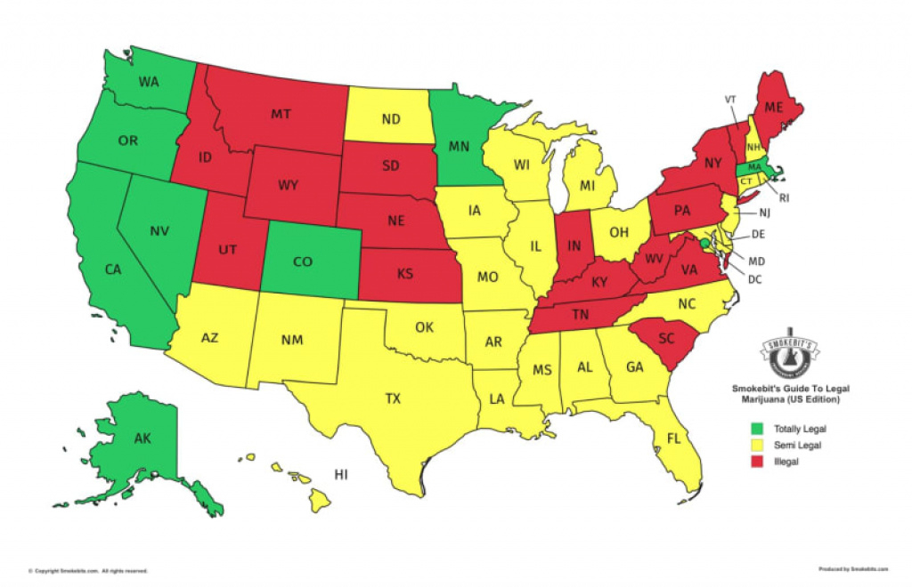 A Map Of Where Weed Is Legal In The Usa | Viva Lifestyle & Travel in States That Legalized Recreational Weed Map