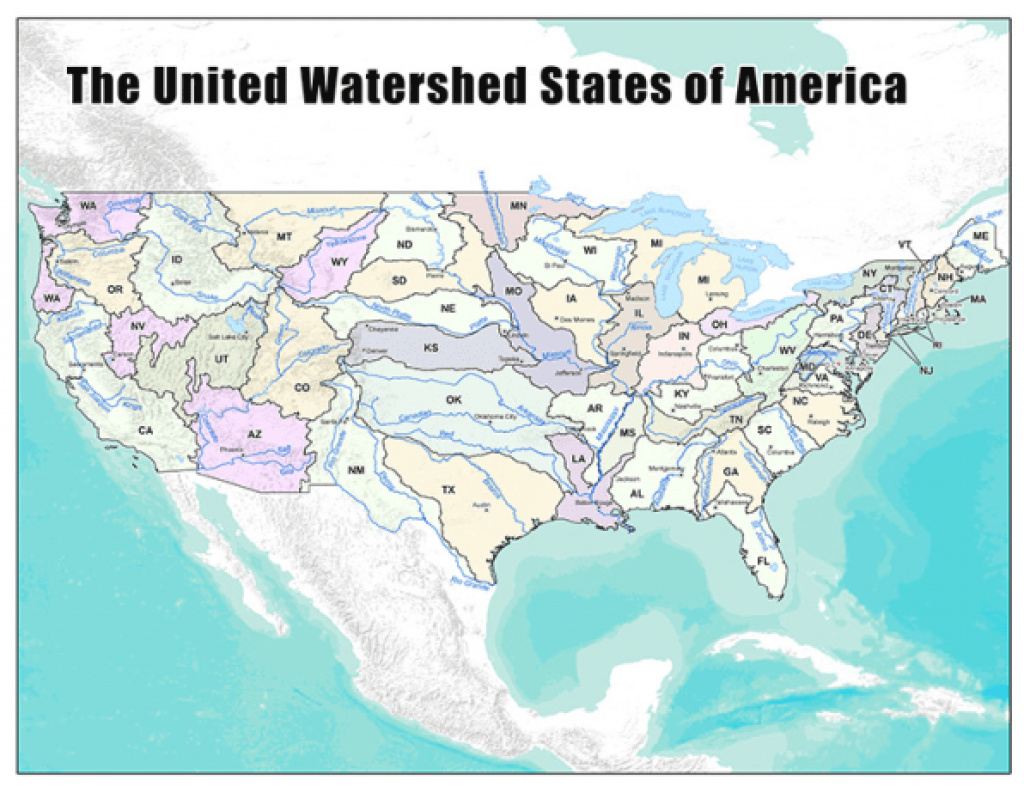 A New Map Of The U.s., Created From Where We Get Our Water regarding Watershed Map Of The United States