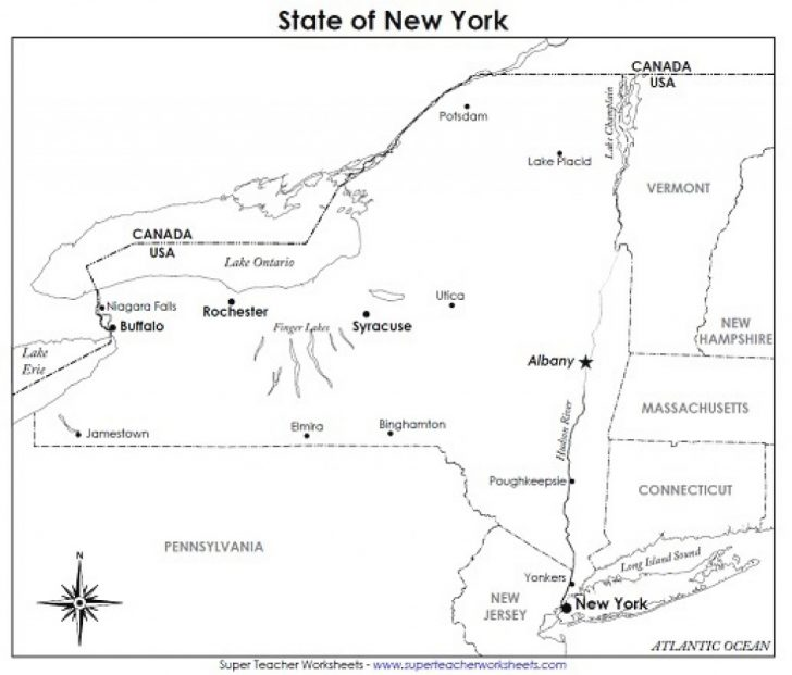 Printable Map Of New York State