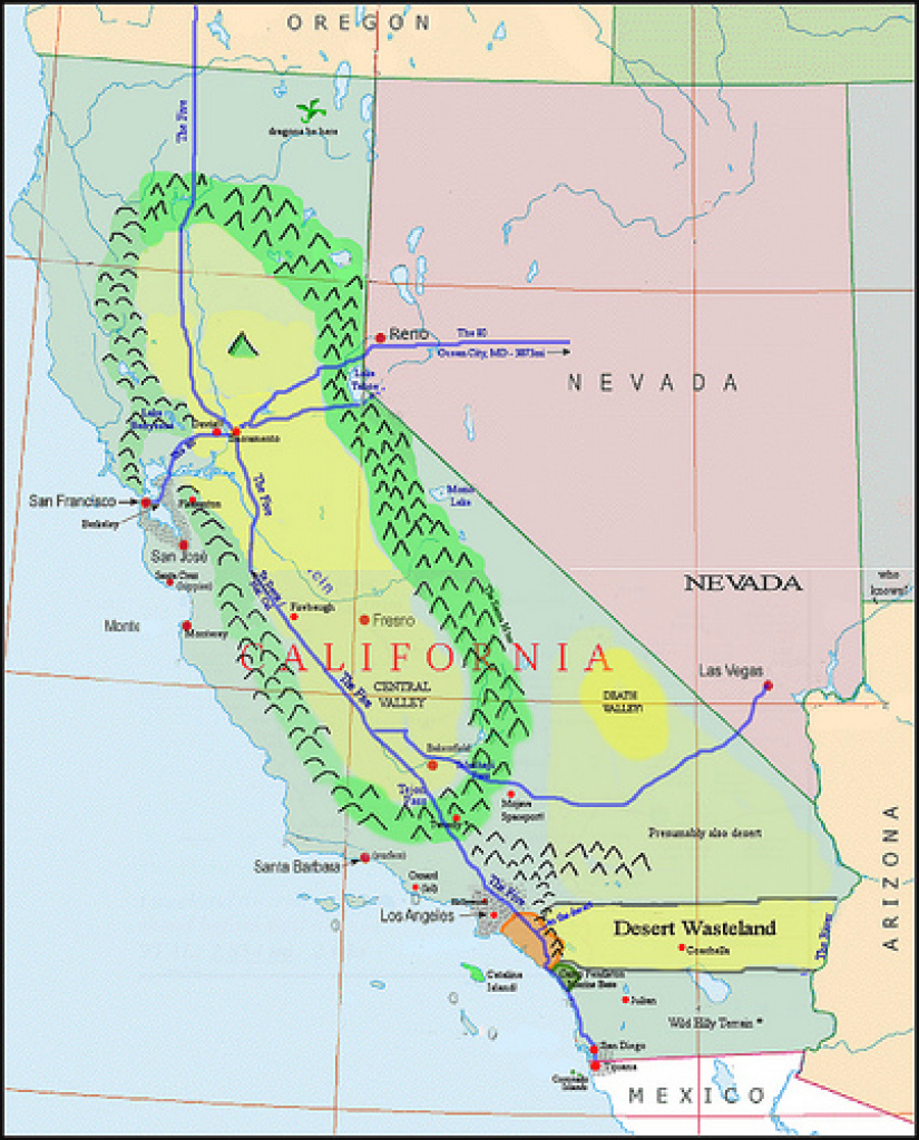 A Proposal To Split California Into Three - California Political Review inside Splitting California Into Two States Map