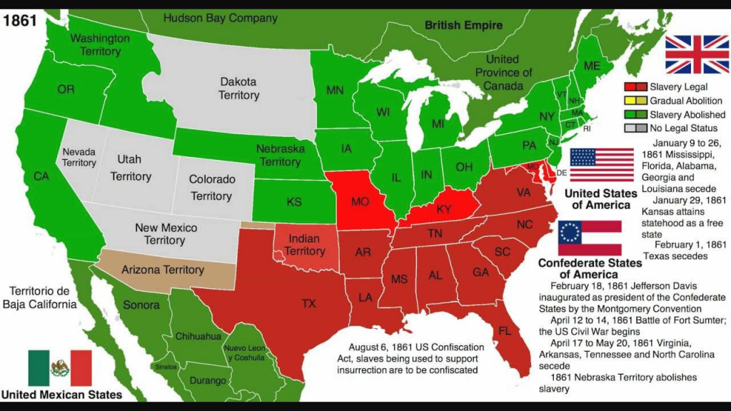 Abolition Of Slavery Map: United States - Youtube regarding Map Of Slavery In The United States