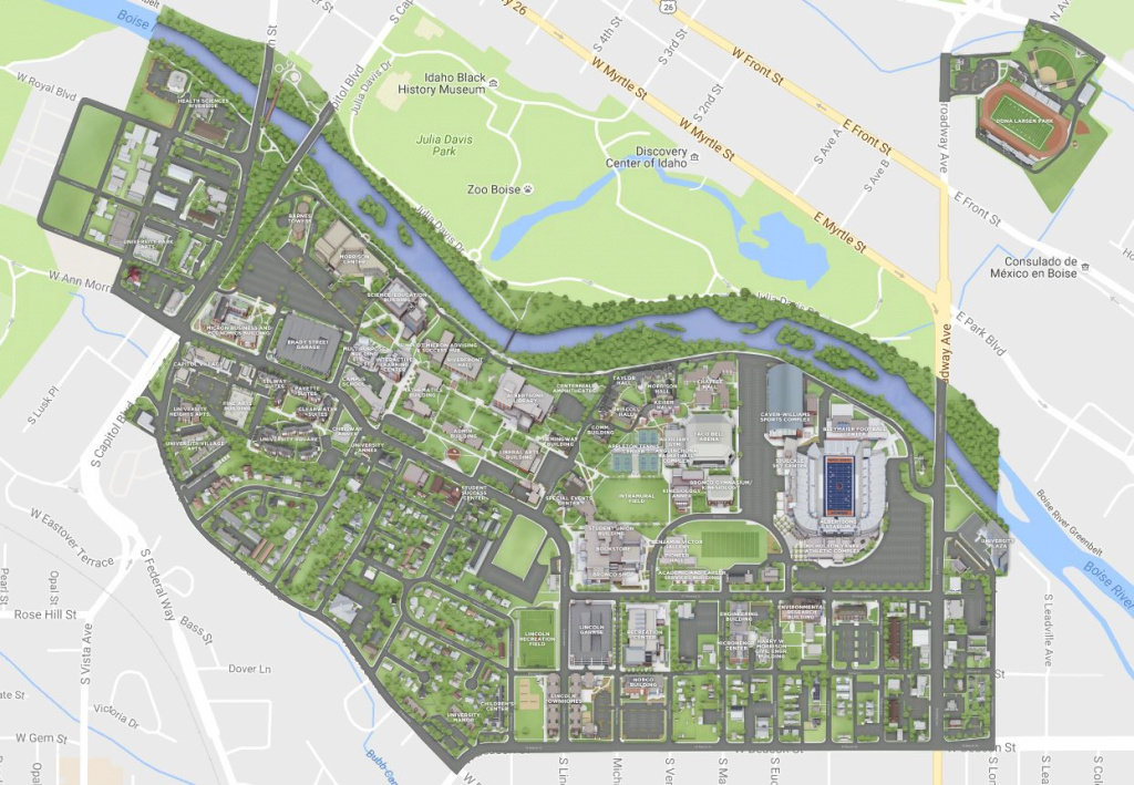 About Boise State - Human Resource Services inside Idaho State University Campus Map