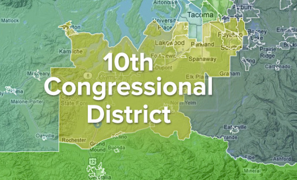 About Washington's 10Th Congressional District within Wa State Congressional Districts Map 2014