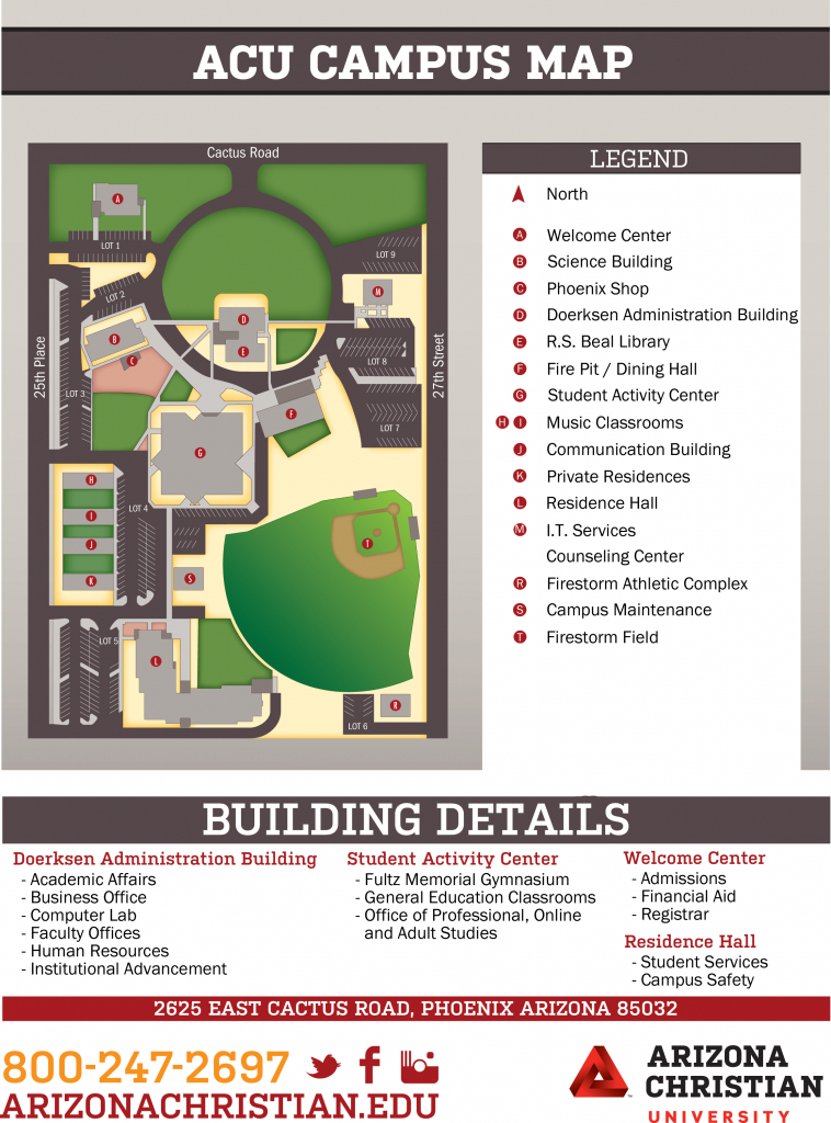 Acu Campus Map | Arizona Christian University pertaining to Dixie State Campus Map