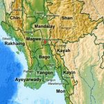 Administrative Divisions Of Myanmar   Wikipedia For Map Of Myanmar States And Regions
