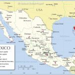 Administrative Map Of Mexico   Nations Online Project In Map Of Mexico And Its States