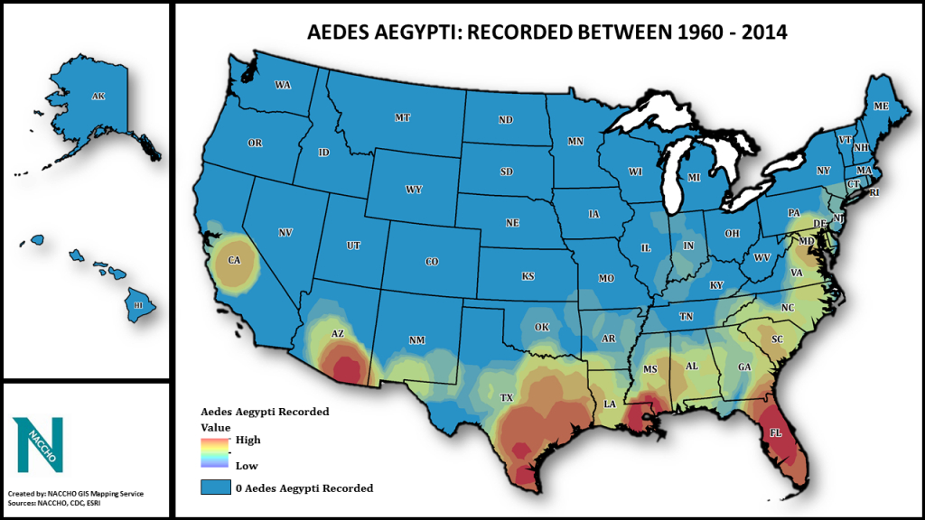 Aedes Aegypti And Local Vector Control: Mapping Out A Plan For Zika intended for Mosquito Population By State Map