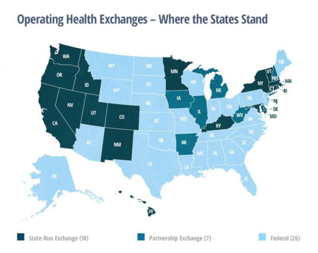 Affordable Healthcare Act: Study Says It's Better For States To Run inside States With Exchanges Map