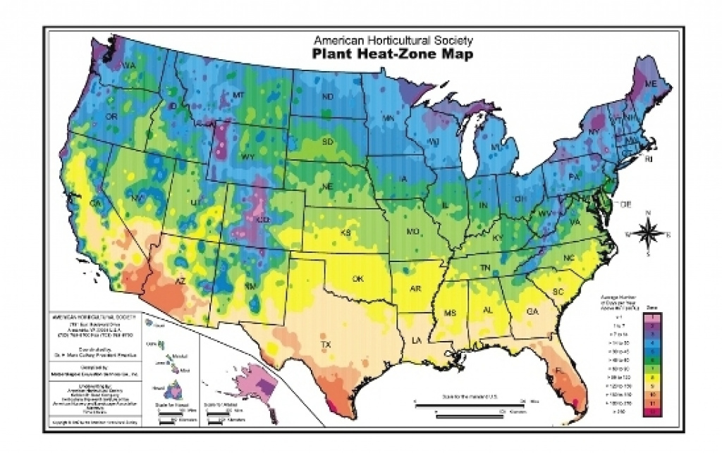 Ahs Plant Heat Zone Map | American Horticultural Society within Map Of Planting Zones In United States