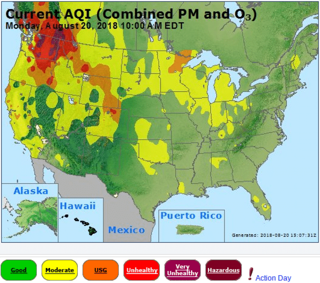 Air Quality Alerts: Spokane, Washington, And Other Places Under inside Washington State Air Quality Map