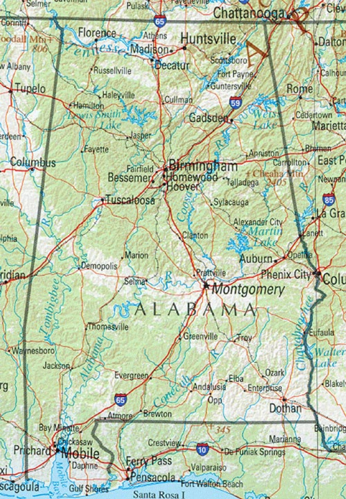 Alabama Maps - Perry-Castañeda Map Collection - Ut Library Online for Tennessee Alabama State Line Map