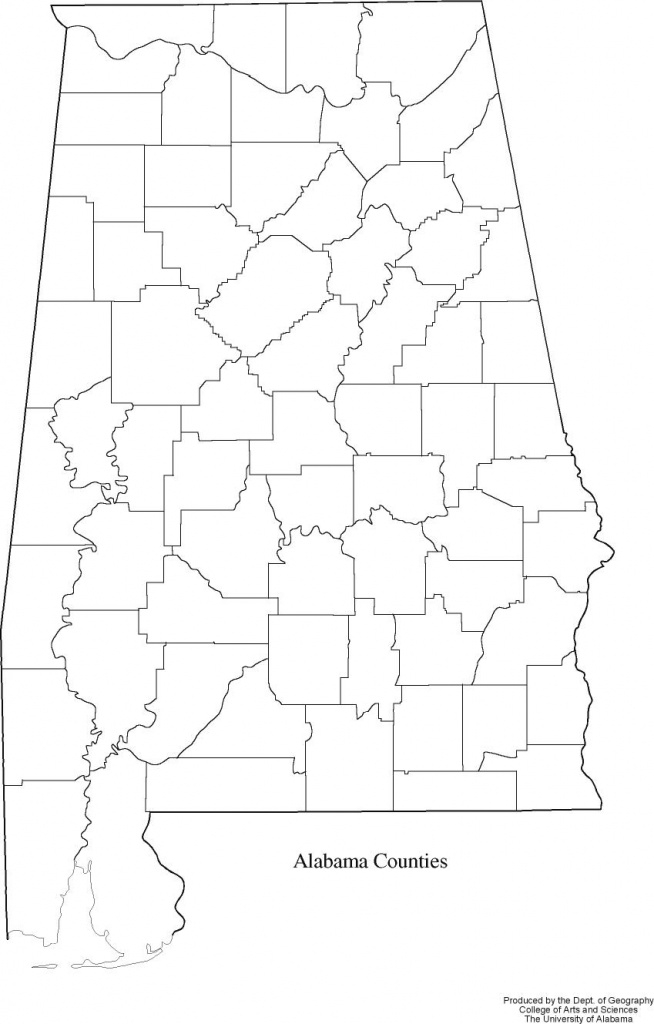 Alabama Outline Maps And Map Links inside Alabama State Map With Counties