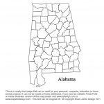 Alabama To Georgia Us County Maps With Alabama State Map With Counties