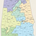 Alabama's Congressional Districts   Wikipedia With Alabama State Senate District Map