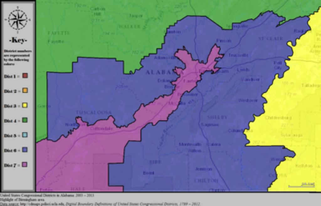 Alabama's Congressional Districts - Wikipedia within Alabama State Senate Map