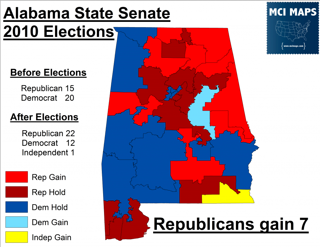 Alabama's Effort To Close Dmv's Is Racially Motivated – Mci Maps with regard to Alabama State Senate Map