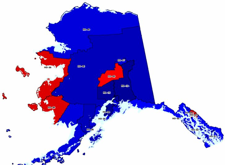 Alaska State Senate District Map