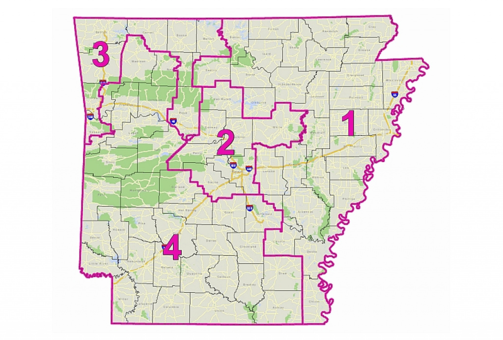 All About Redistricting -- Arkansas in Arkansas State Senate Map
