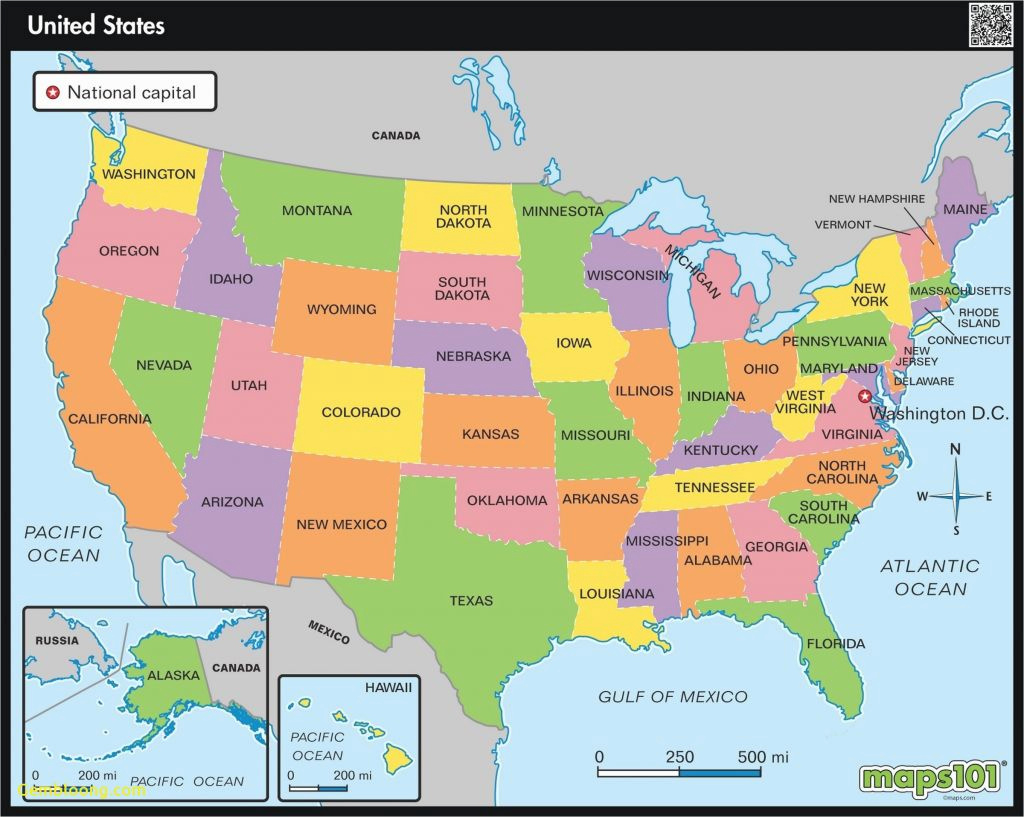 All The States Of America And Their Capitals - Etiforum within United States Of America Map With Capitals