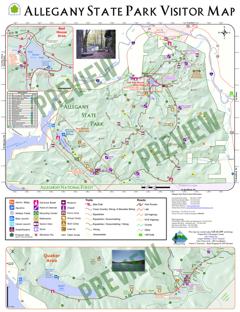 Allegany State Park Visitors Map | Enchanted Mountains Of for New York State Parks Map