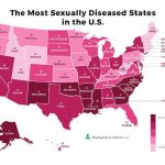 America's Sti Hotspots Revealed In Map | Daily Mail Online with Map Of The United States That You Can Fill In