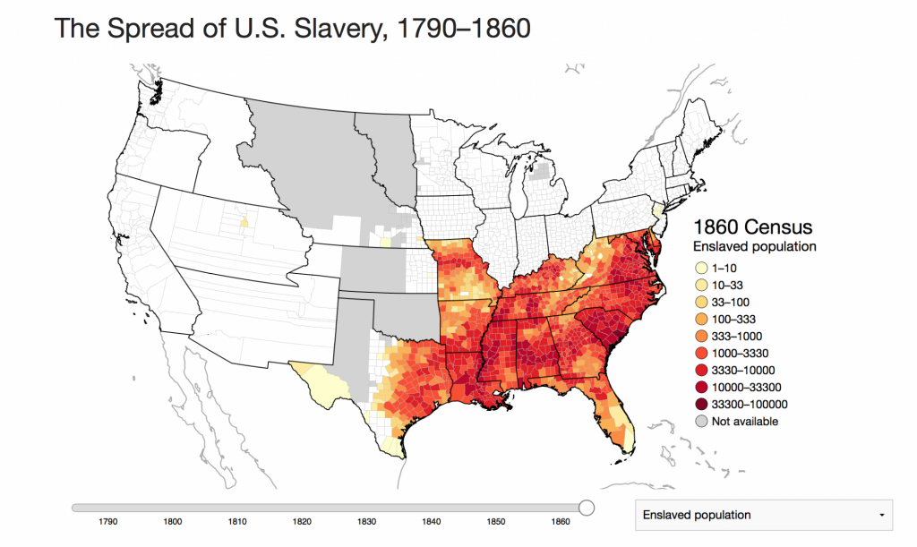An Interactive Map Of Slavery- Mapping The Nation Blog for Map Of Slavery In The United States